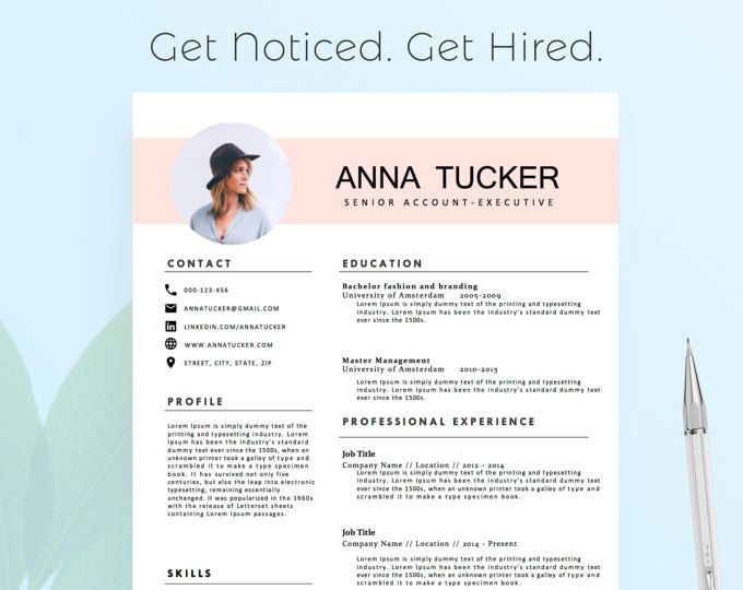 Modern Resume Template for Word, 1-3 Page Resume + Cover Letter + - Modern Resume Styles