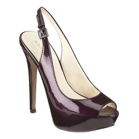 5b50349bf1d NINE WEST Boutique 9 slingback peep toe pump. DARK PURPLE PATENT ...