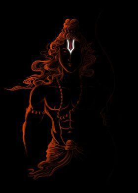 'Shri Ram ji artwrok' Metal Poster Print - Nikhil Mishra | Displate