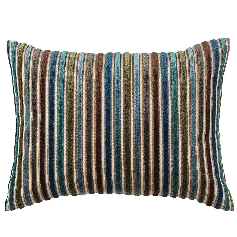 Cool Velvet Stripe Pillow Pier1 Us Pillows Brown
