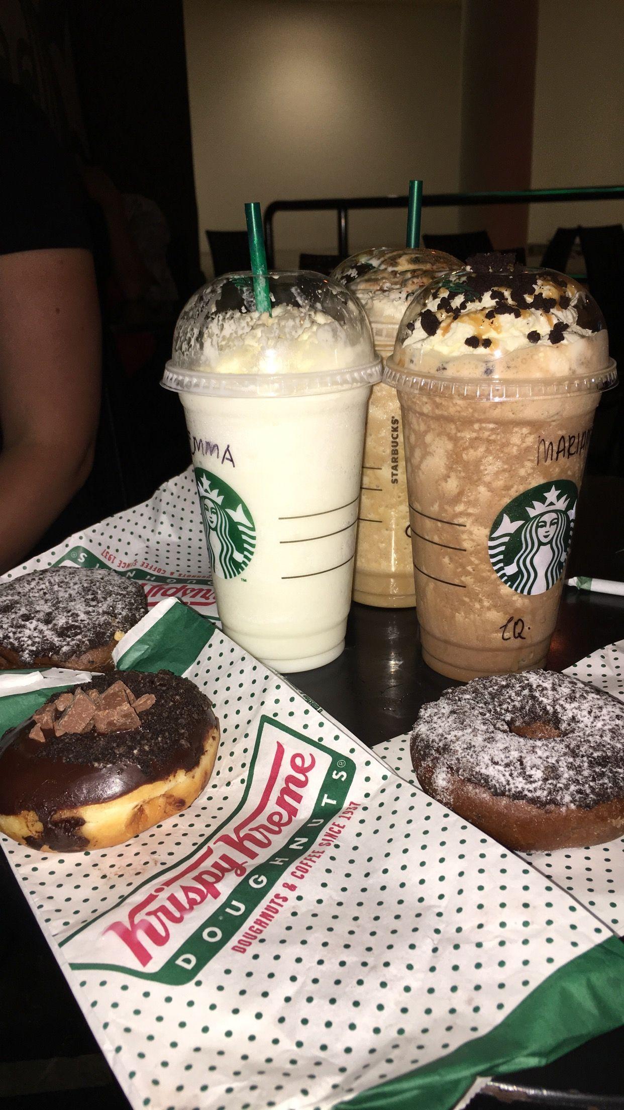 Starbucks And Krispy Kreme Makanan Kopi
