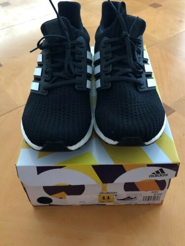 e22e891e26111 Adidas Ultra Boost 4.0 Show Your Stripes Black White AQ0062 Size 11 Men s