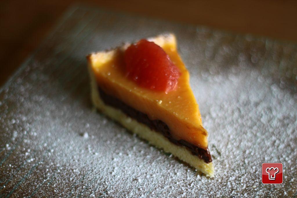 Crostata al Cioccolato e Pompelmo Rosa