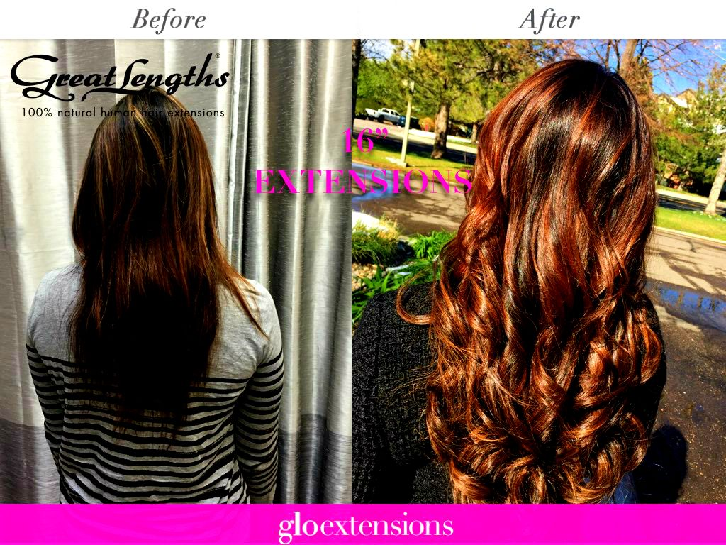 Great Lengths Before And After By Glo Extensions Denver Hairstyles