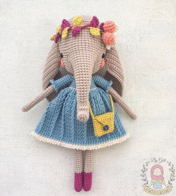 Pattern: MARIE&PIERRE ELEPHANTS- Amigurumi Crochet Elephant Pattern