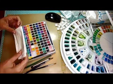 Diy Travel Watercolor Palette Made From Pencil Tin Art