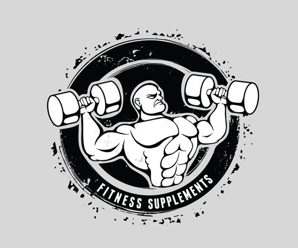 Gym Equipment Logo: Fitness-supplements-logo-design-13