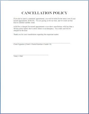 Cancellation Policy Sample Request Letter For Visa Cover Templates