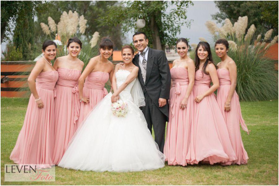 vestido de novia, ramo, boda, damas de honor, bridemaids | Bodas ...