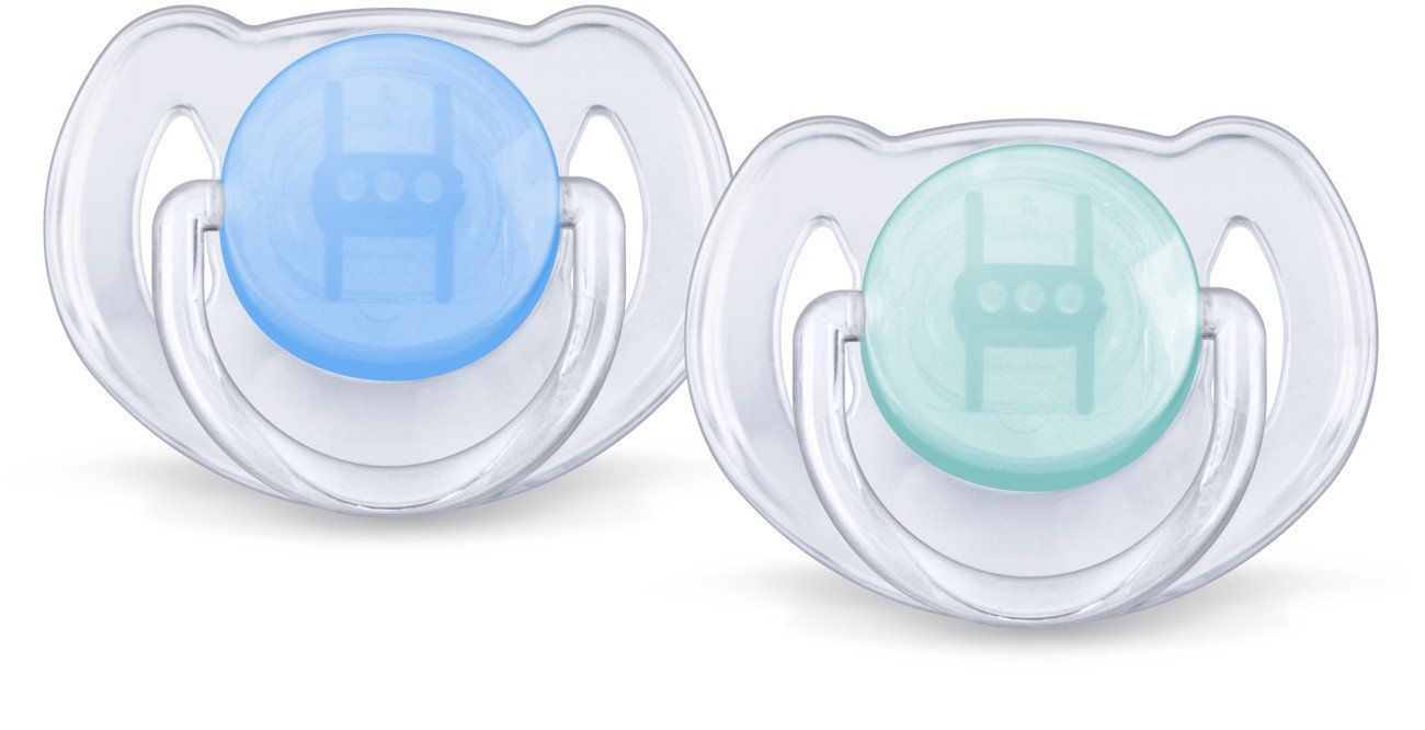 Translucent Colors SCF170//18 Philips Avent Orthodontic Pacifier Colors May Vary 0-6 Months