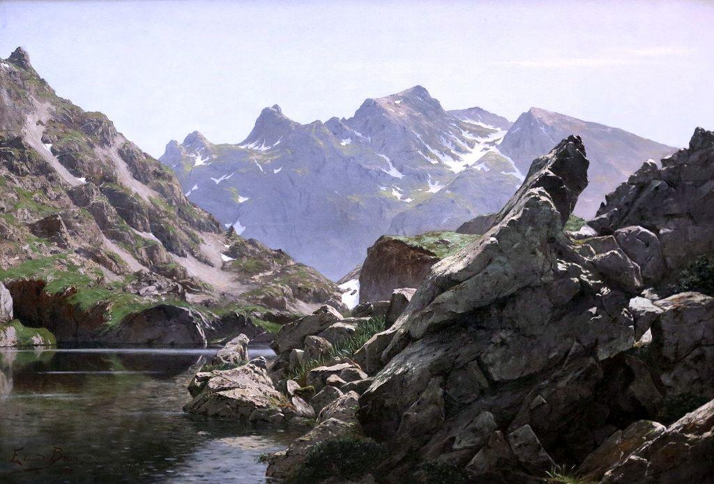 Img 5266 Edouard Brun 1860 1935 Grenoble Le Lac Merlat Lake Merlat 1901 Grenoble Musee Des Beaux Arts Photo Art Event Landmarks