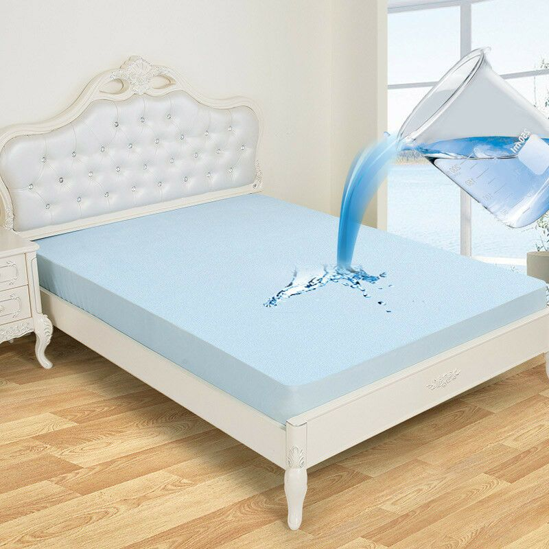 Bamboo Fabric Quilted Waterproof Mattress Pad Cover Super Soft