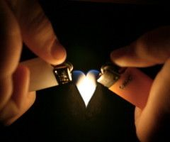 Lighter Flame Heart