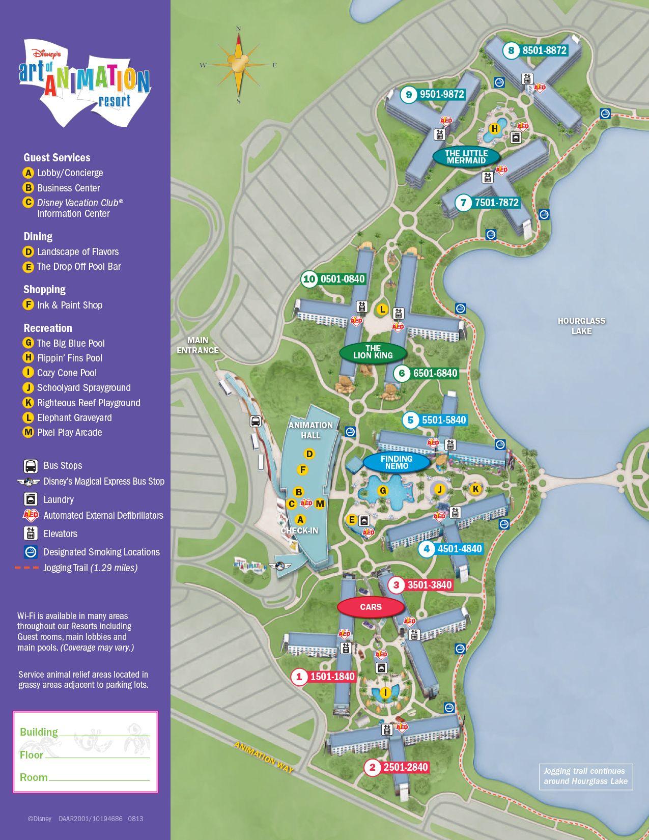 Art of Animation Resort Map   Disney World Maps   Pinterest   Disney ...