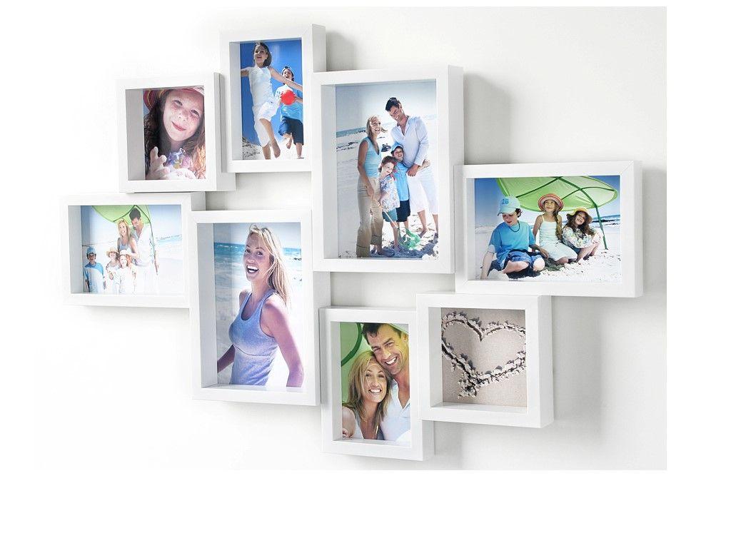 Apart Fotogalerie Bilderrahmen weiß für 8 Fotos | Rahmen | Pinterest ...