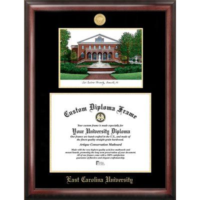Campus Images Harvard University 14w x 11h Gold Embossed Diploma Frame