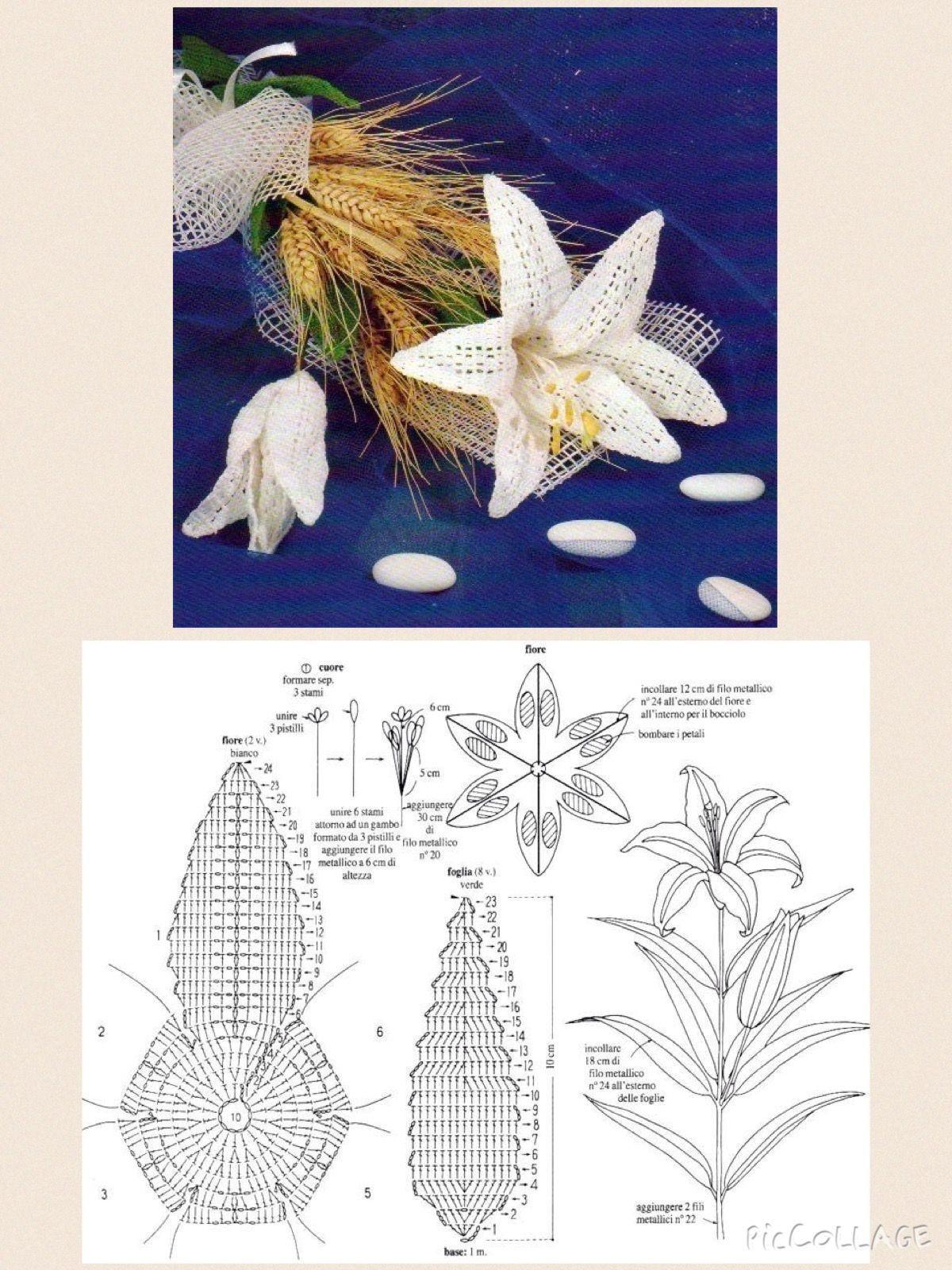 Rose Flower Crochet Pattern Salvabrani Flowers Diagram 4