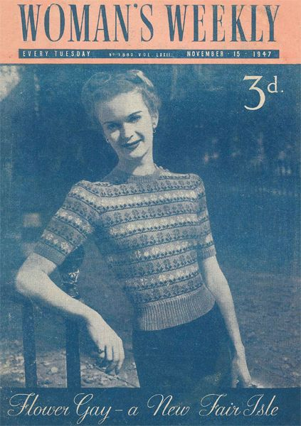 The Vintage Pattern Files Free 1940s Knitting Pattern Womans
