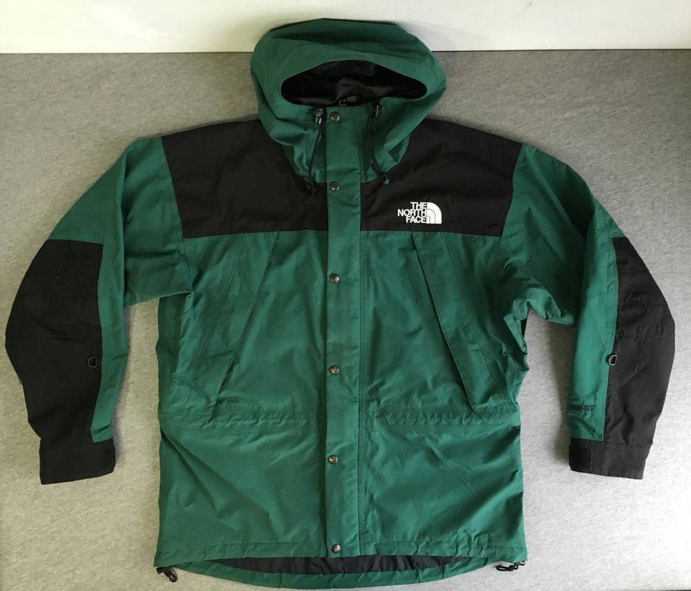 9f97b5137 NORTH FACE Jacket 90s Vtg Mountain Parka SUPREME Hood Rare Green ...