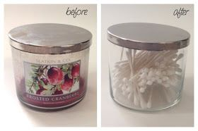 how to remove candle wax out of jars
