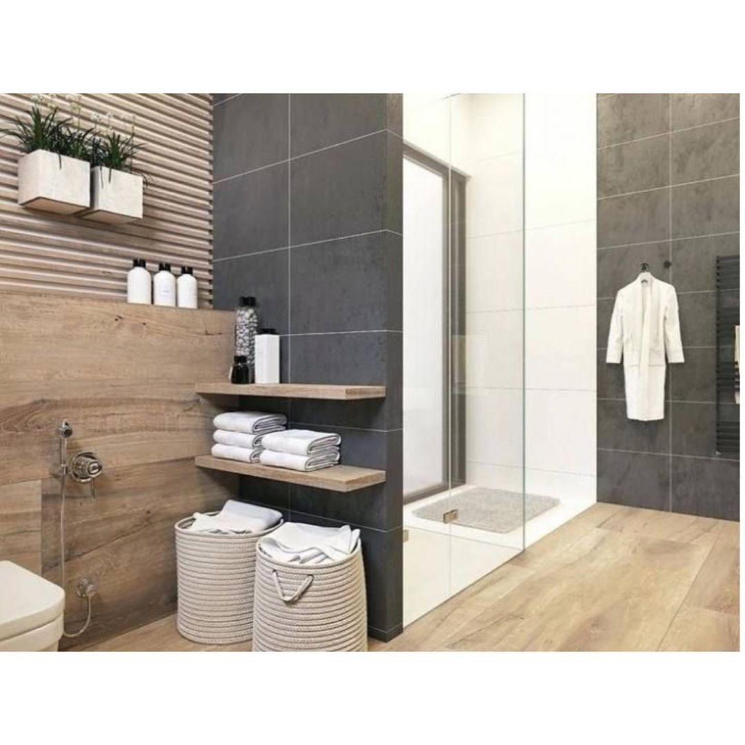 Hauptbad Schaut Euch Mal Bitte Dieses Schone Badezimmer An Ich Liebe Diese Kombi To Contemporary Bathroom Tiles Modern Bathroom Decor Rustic Master Bathroom
