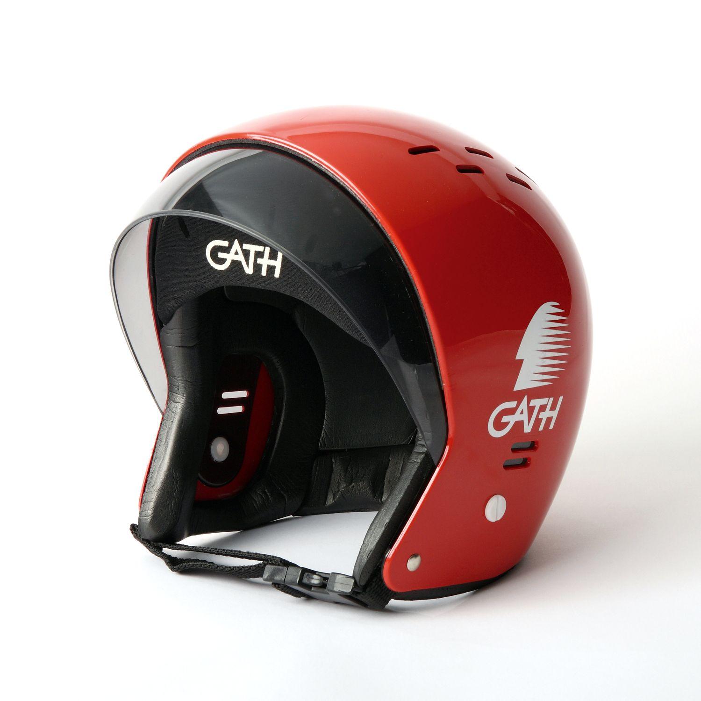 サーフボード、サーフィングッズ通販 | CHP WEB STORE / GATHサーフィンヘルメット(バイザー付)SサイズRED