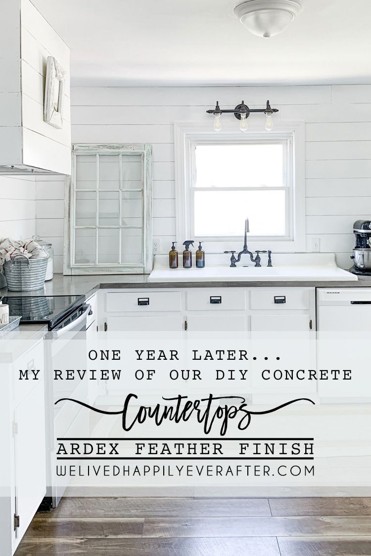 Review Of Our Diy Ardex Feather Finish Concrete Countertops One