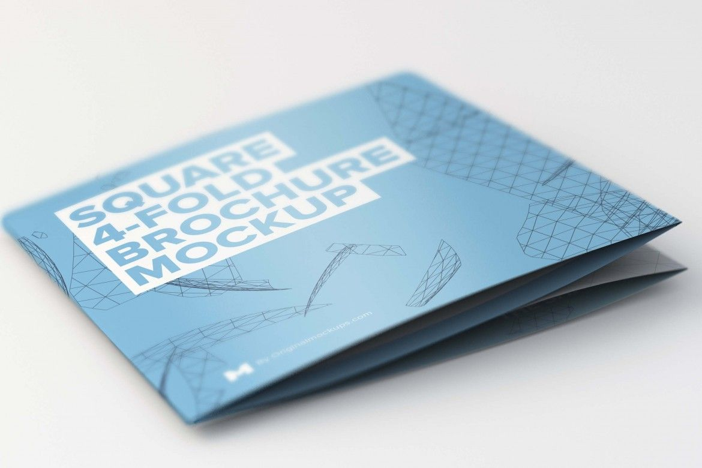 Folded Square Fold Brochure Mockup  Original Mockups