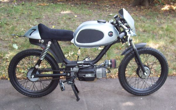 another cute moped in a cafe-racer style. | motorcycles and