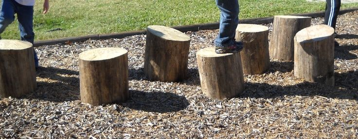 Use stumps for stepping stones stools and building Use stumps for stepping stones stools and building