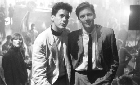 Robert Downey Jr and Andrew McCarthy in Less than Zero. (1987)