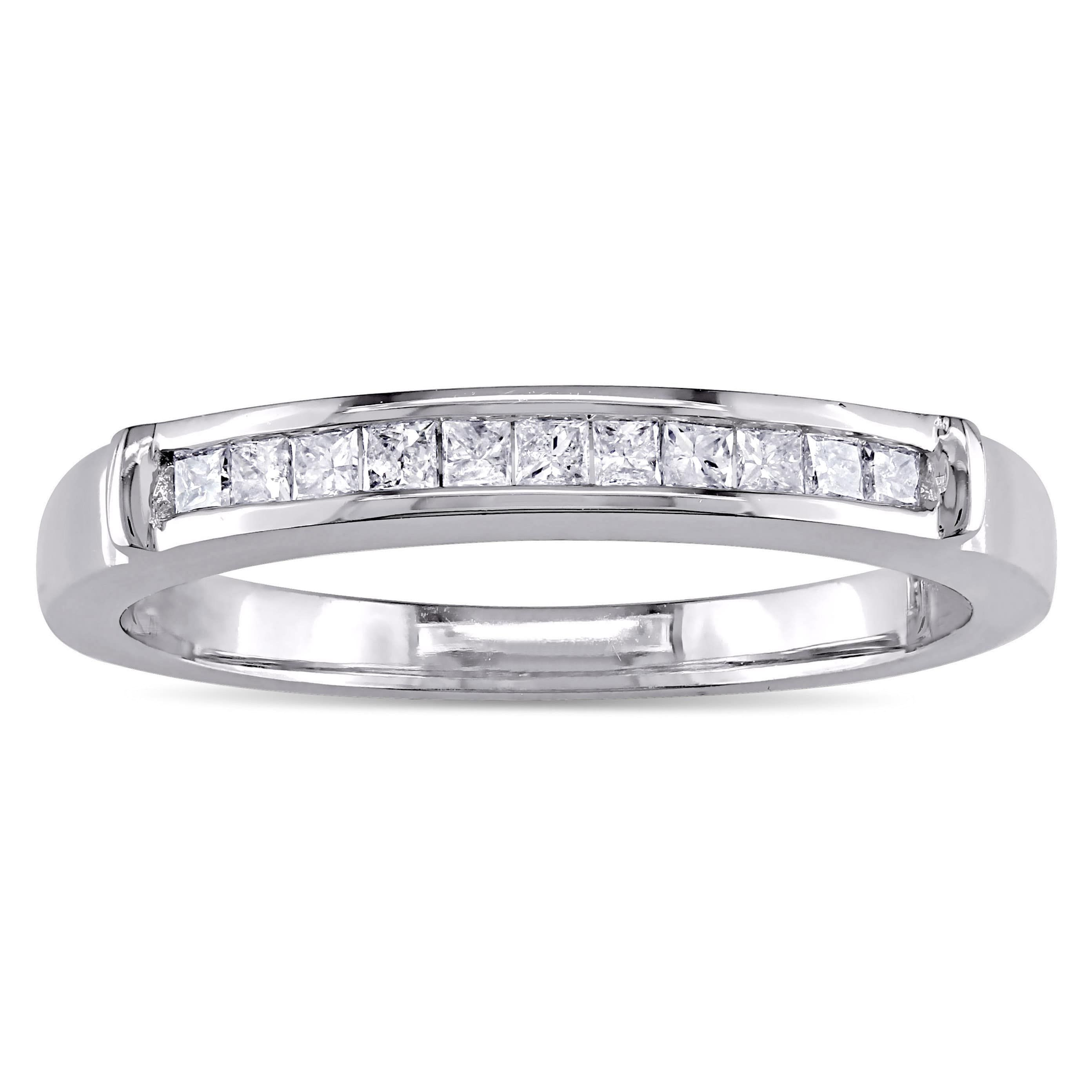 cut princess round in pin platinum ring h anniversary band bands si diamond stone four i