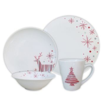 Reindeer Dinnerware Set  sc 1 st  Pinterest & SONOMA life + style 16-pc. Reindeer Dinnerware Set | Festive Holiday ...