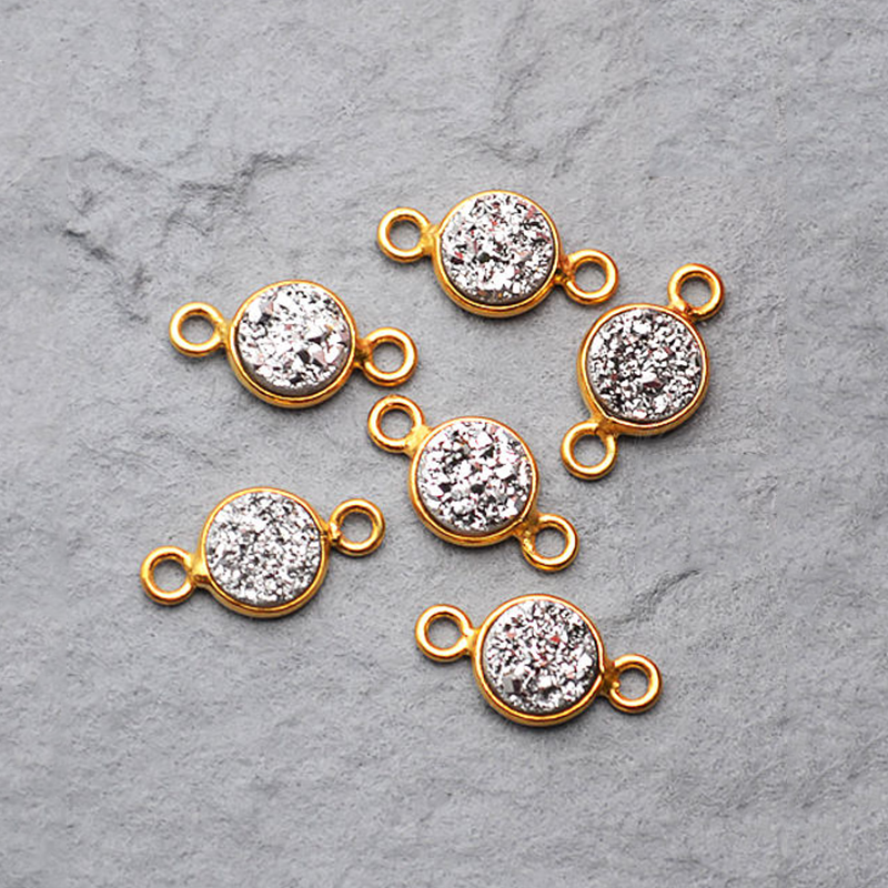 Unleash Your Creative Side With Jewelry Making Supplies From Gemmartusa Use These Druzy Connectors To Make Earrings Necklaces Pendants Bracelets And