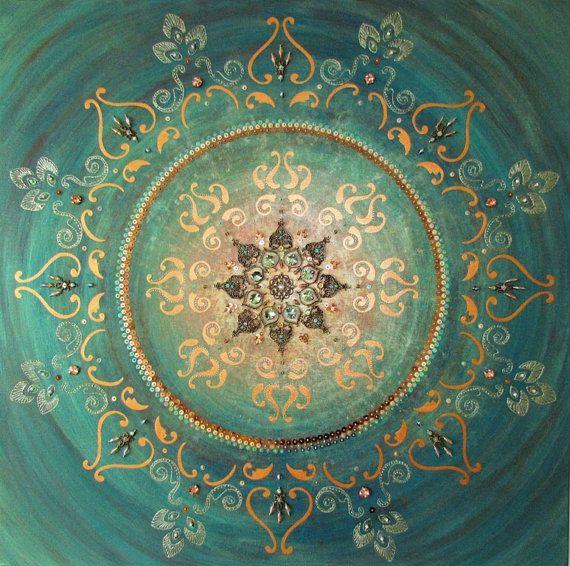 25 b sta mandala painting id erna p pinterest mandala for Mural mandala