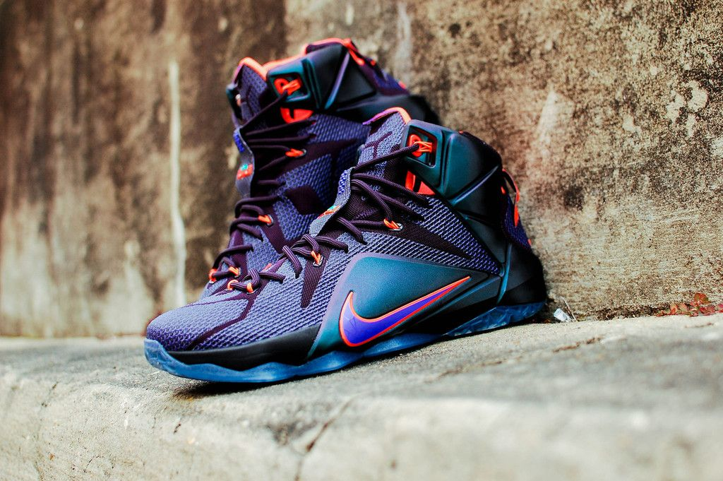 sale retailer 95e61 118c7 New Style Nike Lebron 12 Cheap sale Instinct Cave Purple Turqu
