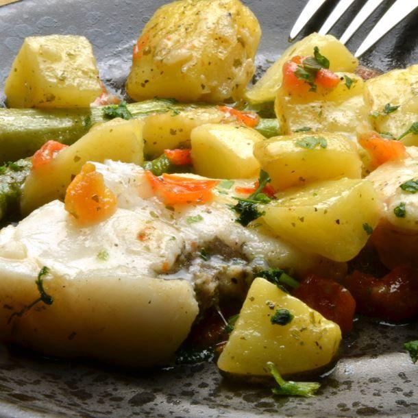 Queue de lotte au four recette poisson crustac s pinterest - Comment cuisiner la queue de lotte ...