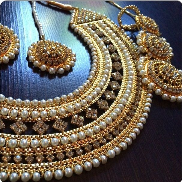 Nice Bridal Jewellery Set By Gems Jewels