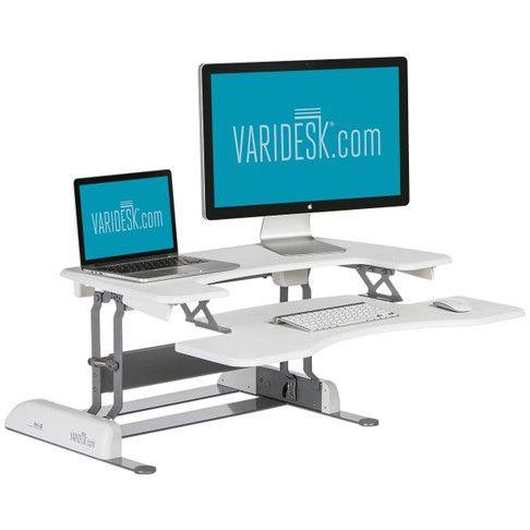 standing desk white pro plus 36 varidesk com want it desk rh pinterest com