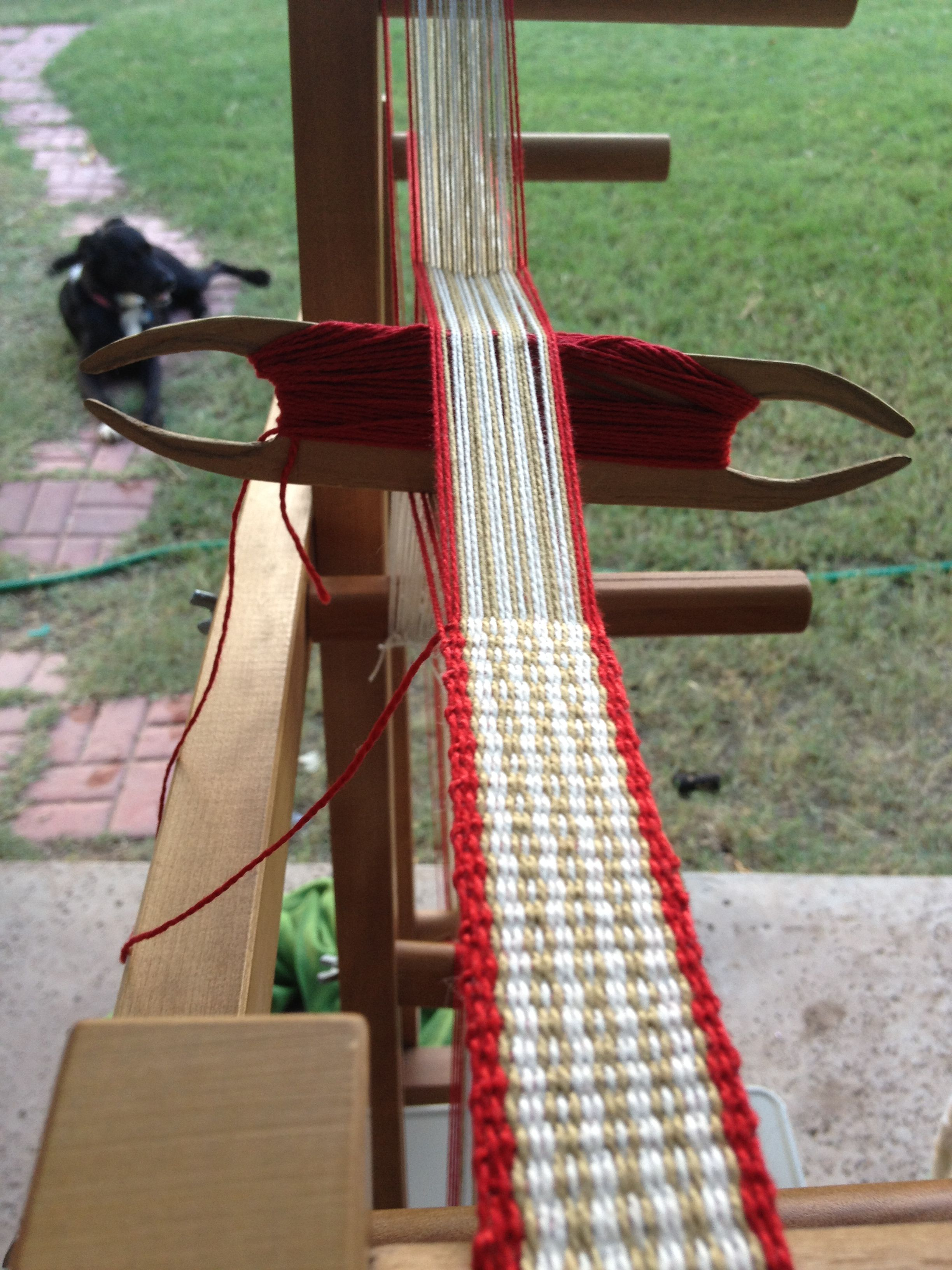 Inkle loom rescue mission (a box of random looking