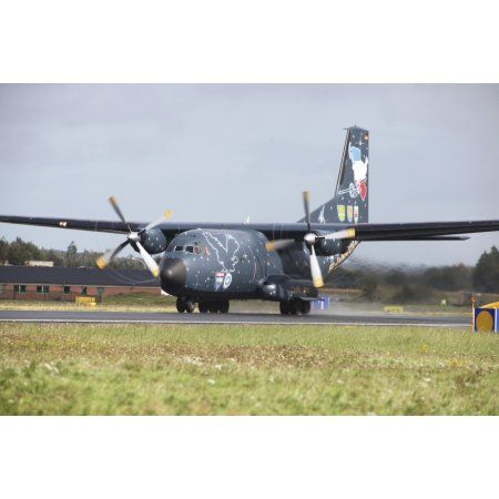 A C-160 Transall of the German Air Force on the runway Canvas Art ...