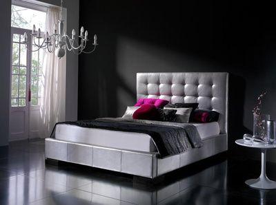 Cabecero piel gris blanco deco bedrooms pinterest - Disenos de camas modernas ...