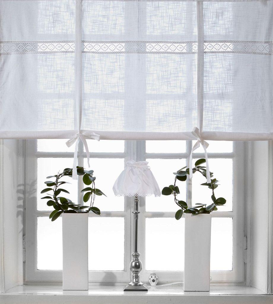 JULIA WEISS Raffrollo 18x18cm Vorhang Raffgardine Landhaus