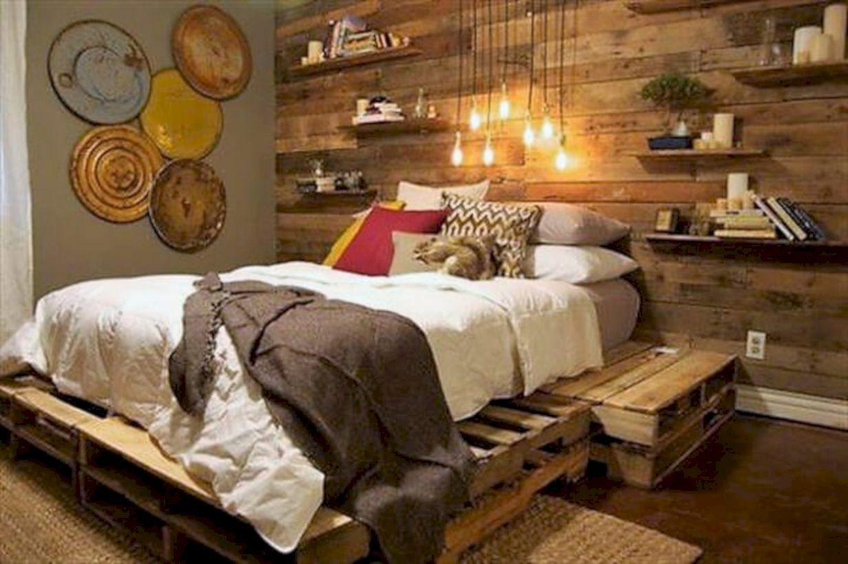 Pin By Bedewangdecor Com On Dining Room Bed Frame Design Rustic Bedroom Diy Pallet Bed