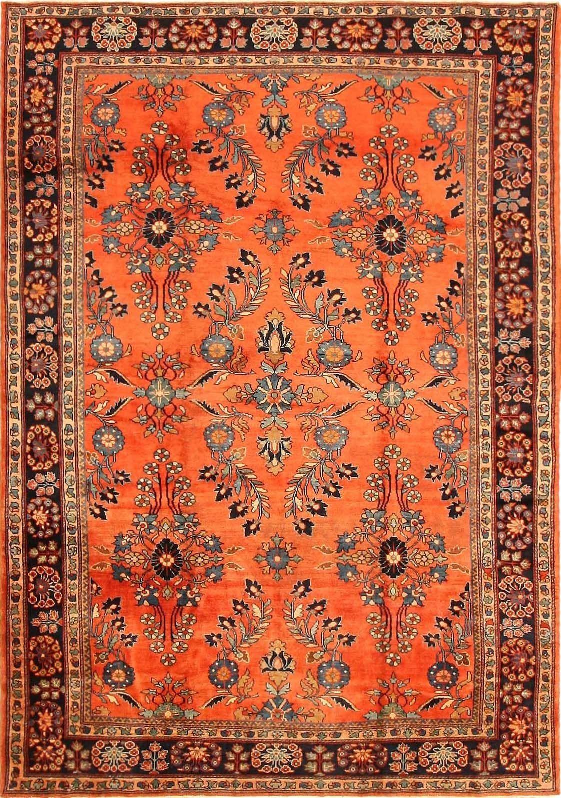Antique Sultanabad Persian Rug 43227 Tappeti antichi