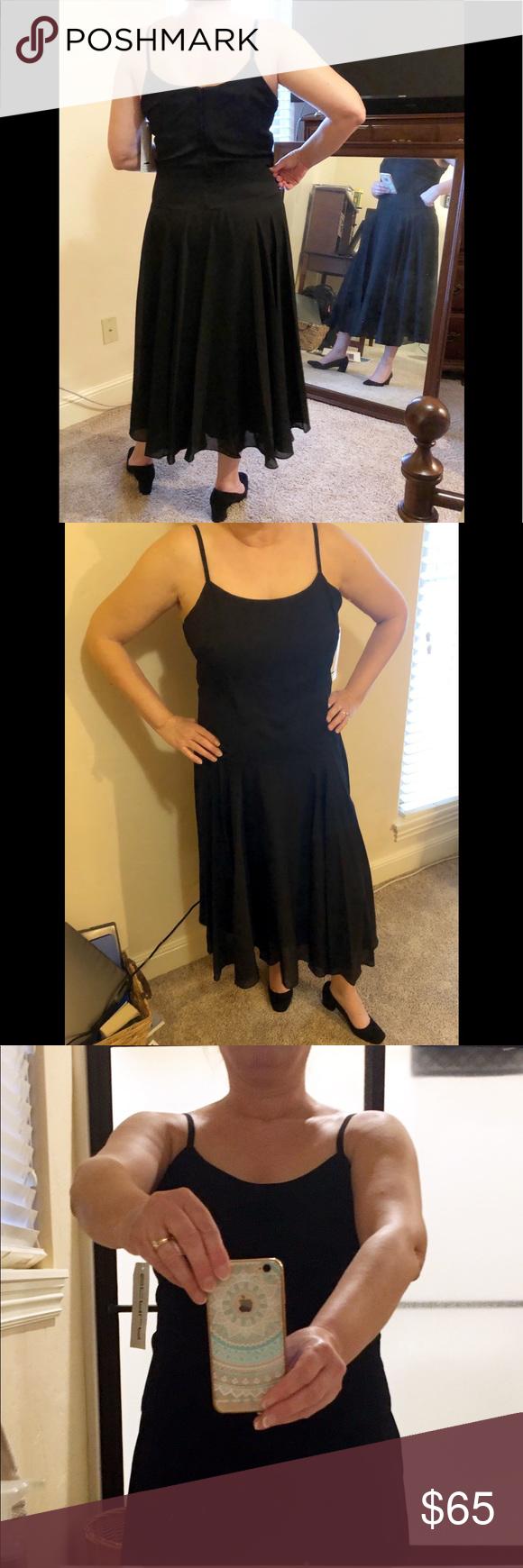 Scala Little Black Dress Coutoure Collection Xl Simple Elegant Lbd Tea Length Fully Lined Flowy Chiffon Skirt Ov Dresses Little Black Dress Colorful Dresses [ 1740 x 580 Pixel ]