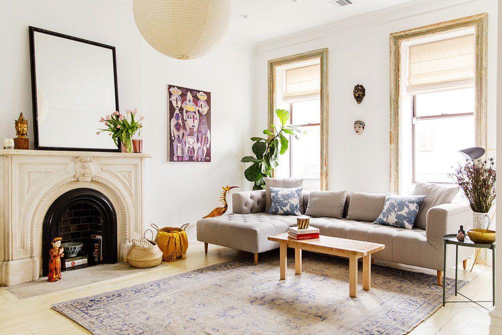 domino on | Brooklyn brownstone, Living room decor, Living ...