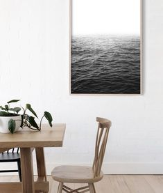 Australian Coastal Home | Black And White Ocean Art Photography | Ocean Photography Print | Modern Coastal Decor | Modern Coastal Living Room | Modern Coastal Home | Seascape Art | Coastal Beach House | Ocean Poster | Sea Art | Ocean Artwork | Black and White Prints #coastallivingrooms