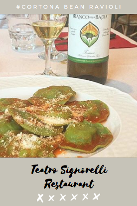 Enjoyed This Bean Ravioli Masterpiece With A Nice Glass Of Wine