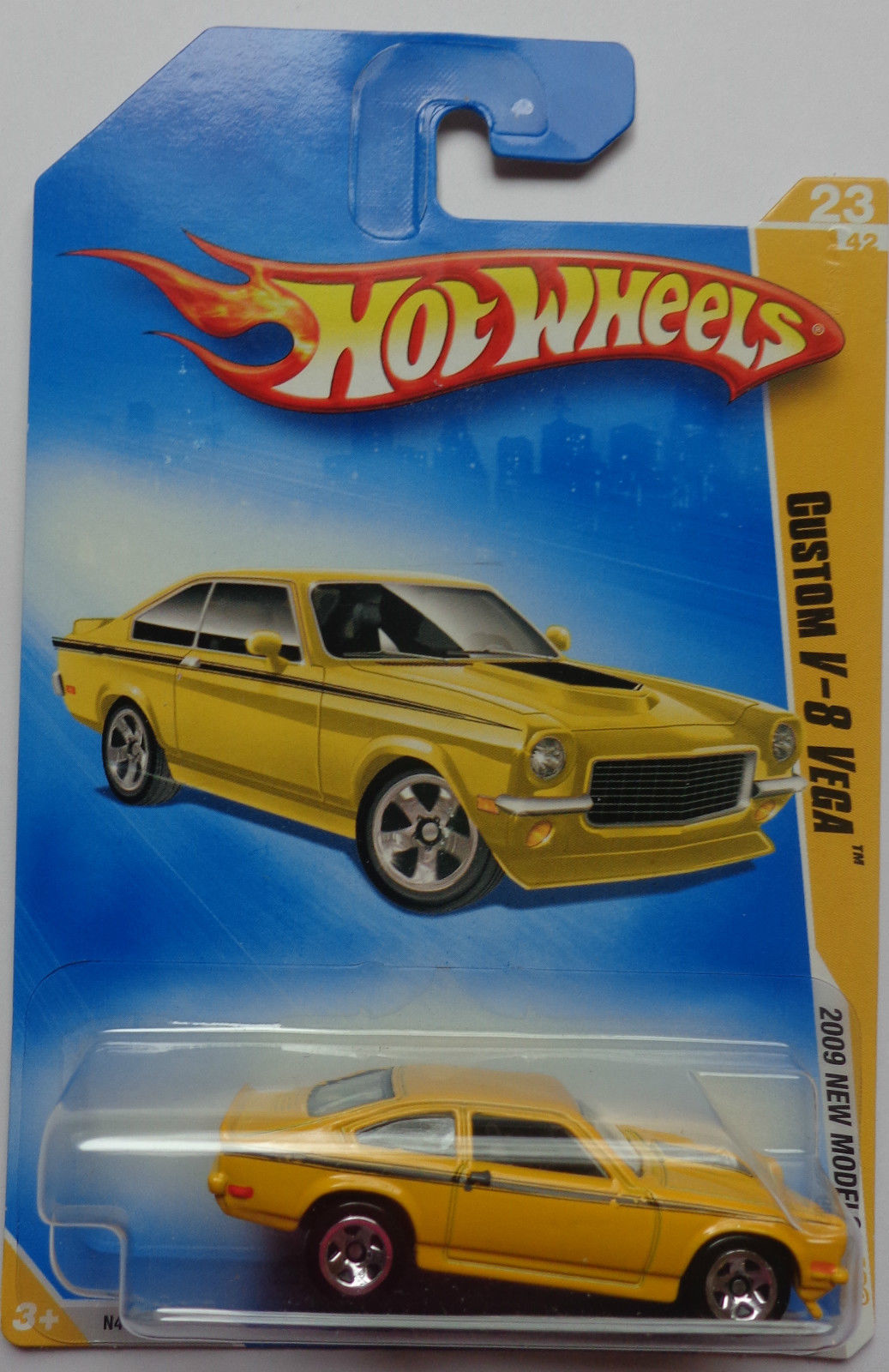 1 5 2009 Hot Wheels Models Custom V 8 Vega 23 42 Yellow 5
